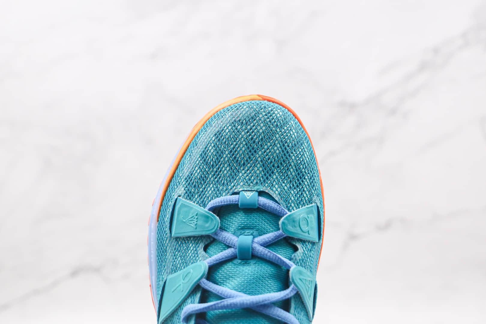 耐克Nike Kyrie 7 Ep纯原版本欧文7代蓝橘色篮球鞋内置气垫支持实战 货号:CT1137-900