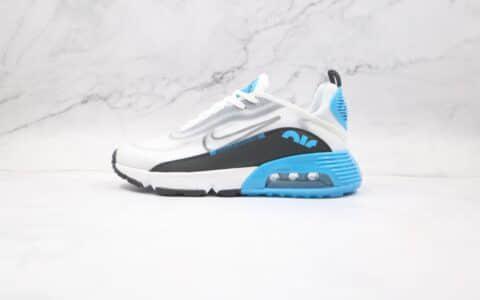 耐克Nike Air Max 2090纯原版本白蓝黑色Max2090气垫鞋原楦头纸板打造原鞋开模一比一 货号:DC0955-100