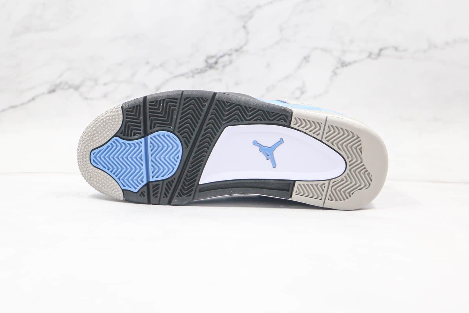乔丹Air Jordan 4篮球鞋纯原版本AJ4大学蓝配色内置气垫正确鞋面材质 货号:CT8527-400
