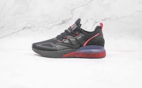 阿迪达斯Adidas ZX 2K BOOST纯原版本三叶草ZX 2K黑红爆米花跑鞋原档案数据开发 货号:FZ4641