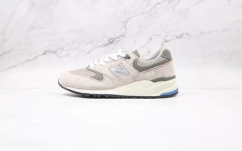 新百伦New Balance 999纯原版本米白色NB999复古慢跑鞋原盒原标 货号:ML999JOL