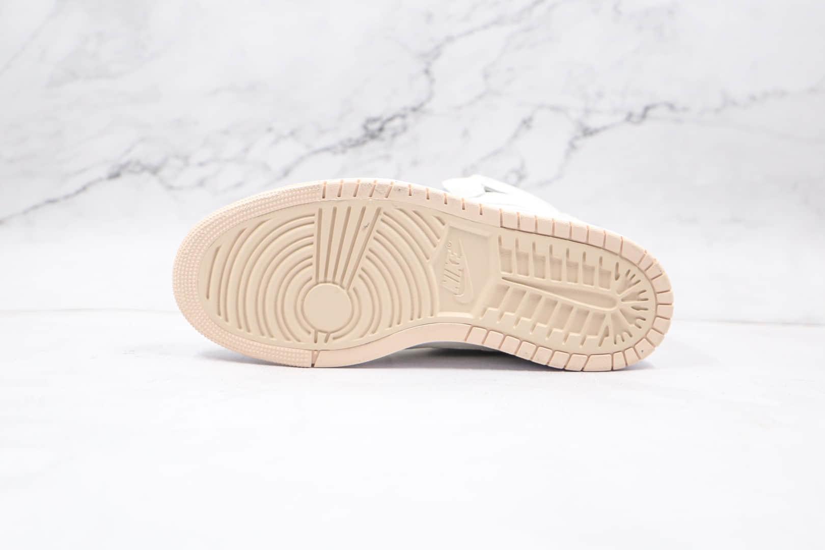 乔丹AIR JORDAN 1 ZOOM AIR CMFT纯原版本高帮ZOOM系列AJ1珍珠白板鞋正确后跟定型 货号:CT0979-107