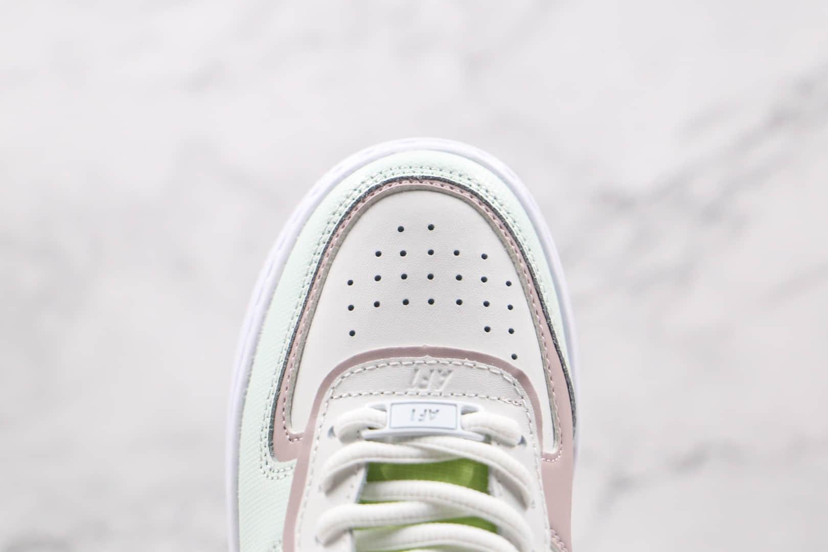 耐克Nike Air Force 1 Shadow纯原版本低帮空军一号马卡龙电玩像素板鞋内置气垫 货号:CV8480-300