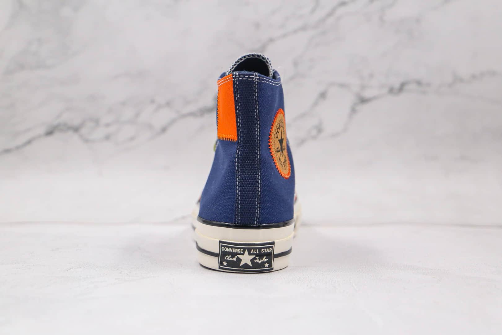 匡威Converse Chuck 70s公司级版本高帮1970S深蓝色补丁硫化板鞋原盒配件齐全