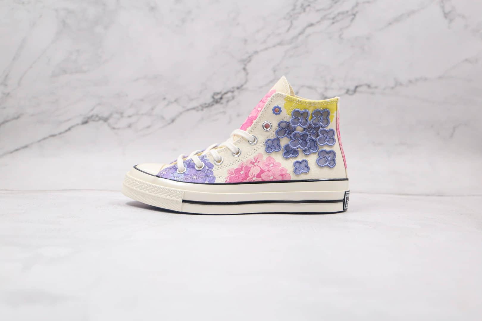 匡威Converse 2021 1970s公司级版本高帮1970S花卉图案硫化板鞋原楦头纸板打造