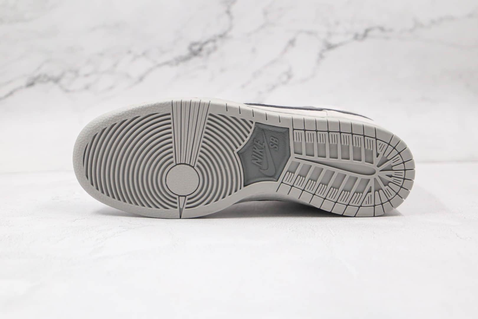 """耐克Nike Dunk SB High PRM """"Grey Box""""纯原版本高帮SB板鞋灰色原厂皮料 货号:313171-036"""