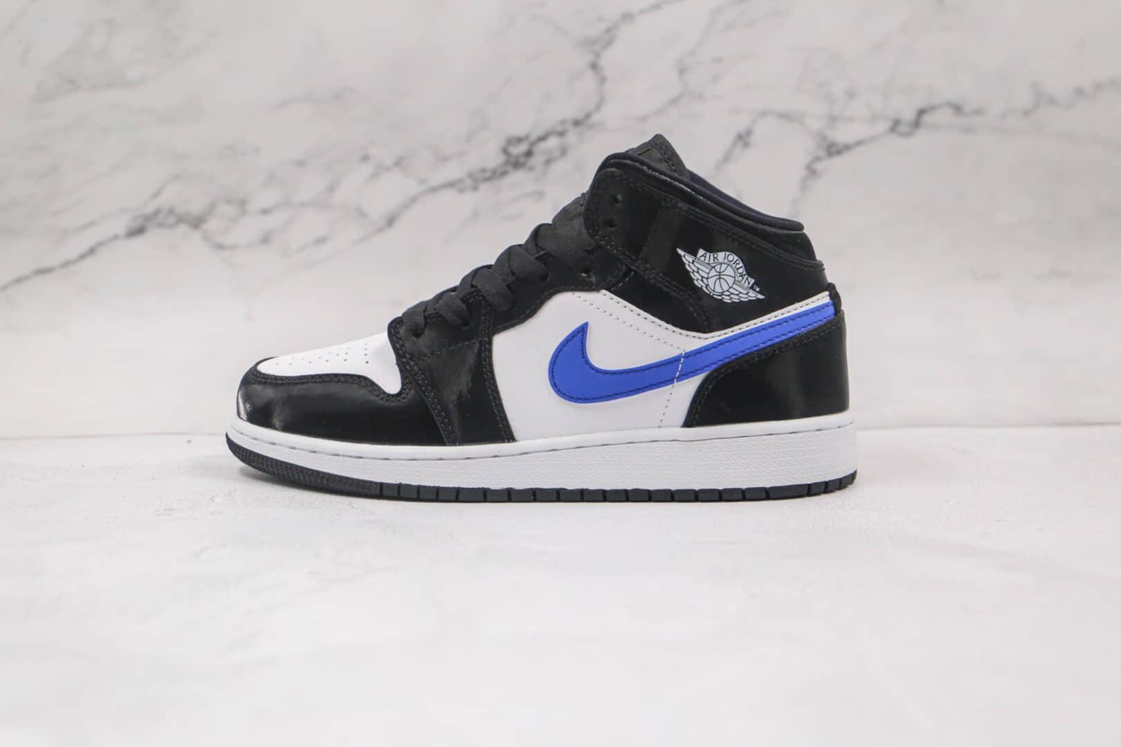 """乔丹Air Jordan 1 Mid """"Astronomy Blue""""纯原版本中帮AJ1黑白蓝色蓝熊猫原鞋开模 货号:554725-084"""
