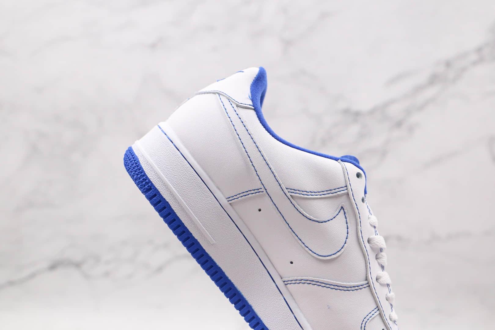耐克Nike Air Force 1 07 White Black纯原版本低帮空军一号白蓝缝线板鞋内置全掌Sole气垫 货号:CV1752-101