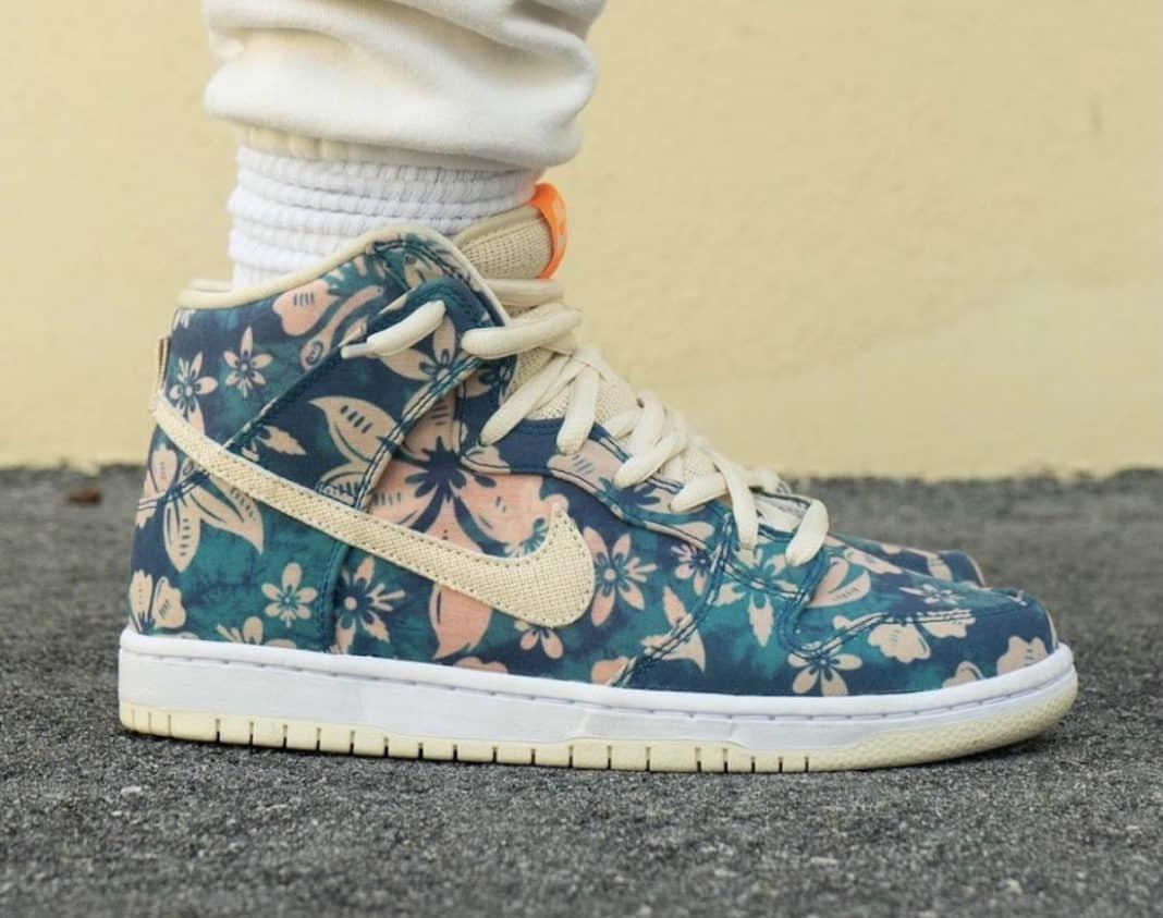 """扎染+花卉装扮!全新""""夏威夷"""" Nike SB Dunk High上脚惊艳! 货号:CZ2232-300"""