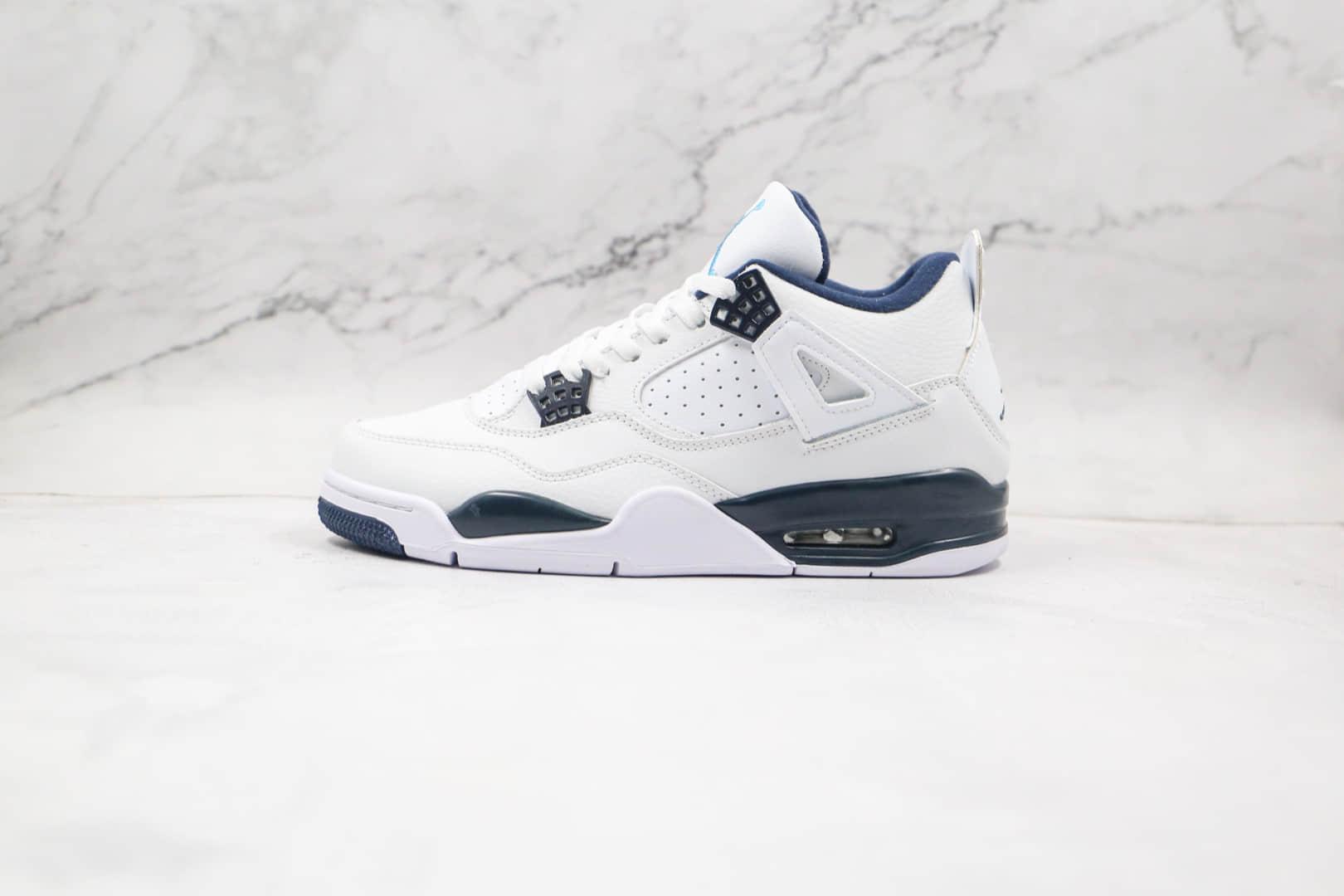 乔丹Air Jordan 4 Retro纯原版本哥伦比亚白蓝色AJ4篮球鞋原楦头纸板打造 货号:314254-107