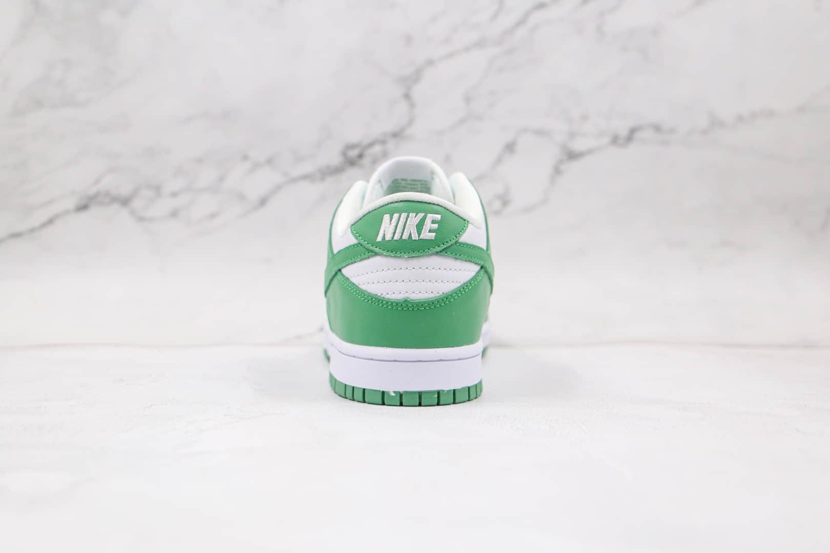 耐克Nike SB Dunk Low Green Tender powder 2021纯原版本低帮SB DUNK白绿色嫩巴黎环保主题板鞋内置气垫 货号:CU1726-188