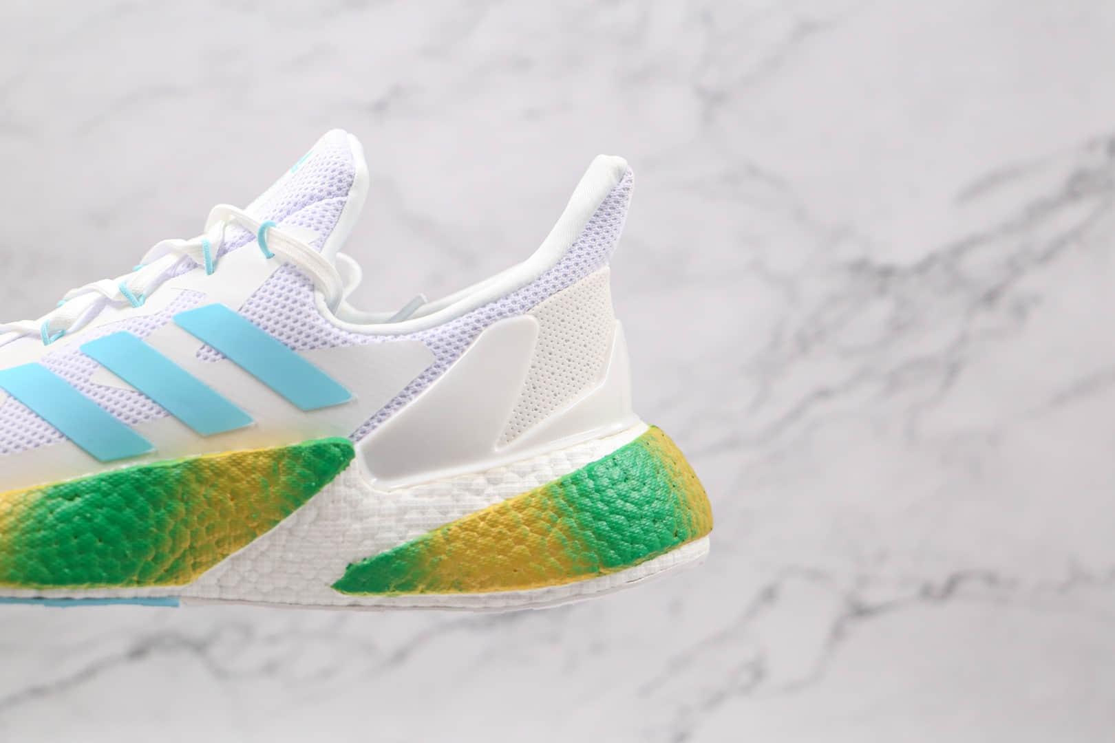 阿迪达斯Adidas X9000L4 Boost纯原版本爆米花跑鞋X9000L4灰白绿色原档案数据开发 货号:FY3230