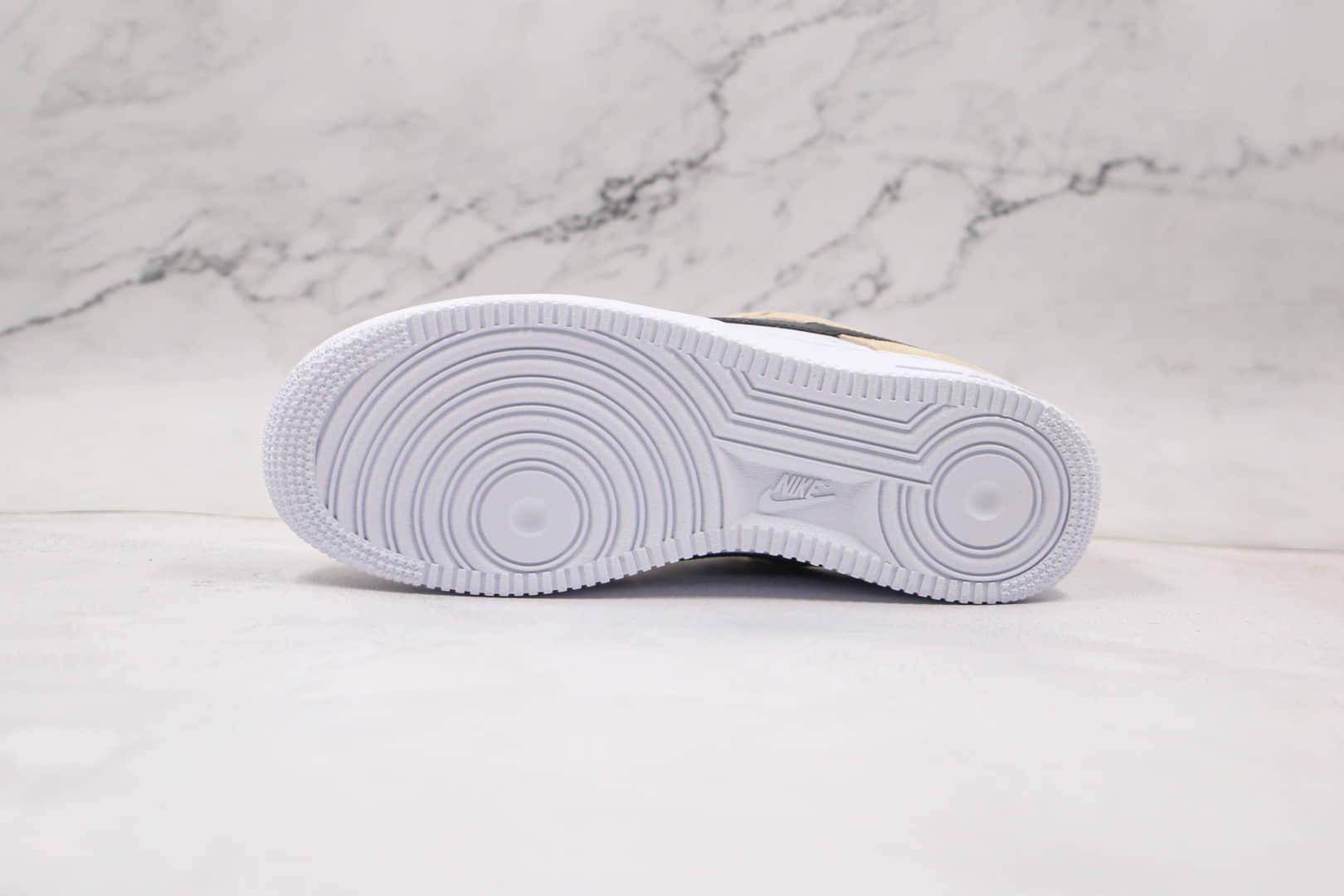 耐克Nike Air Force 1 HO20 BG纯原版本低帮空军一号奶茶白黑色板鞋内置气垫原盒原标 货号:BQ8988-100