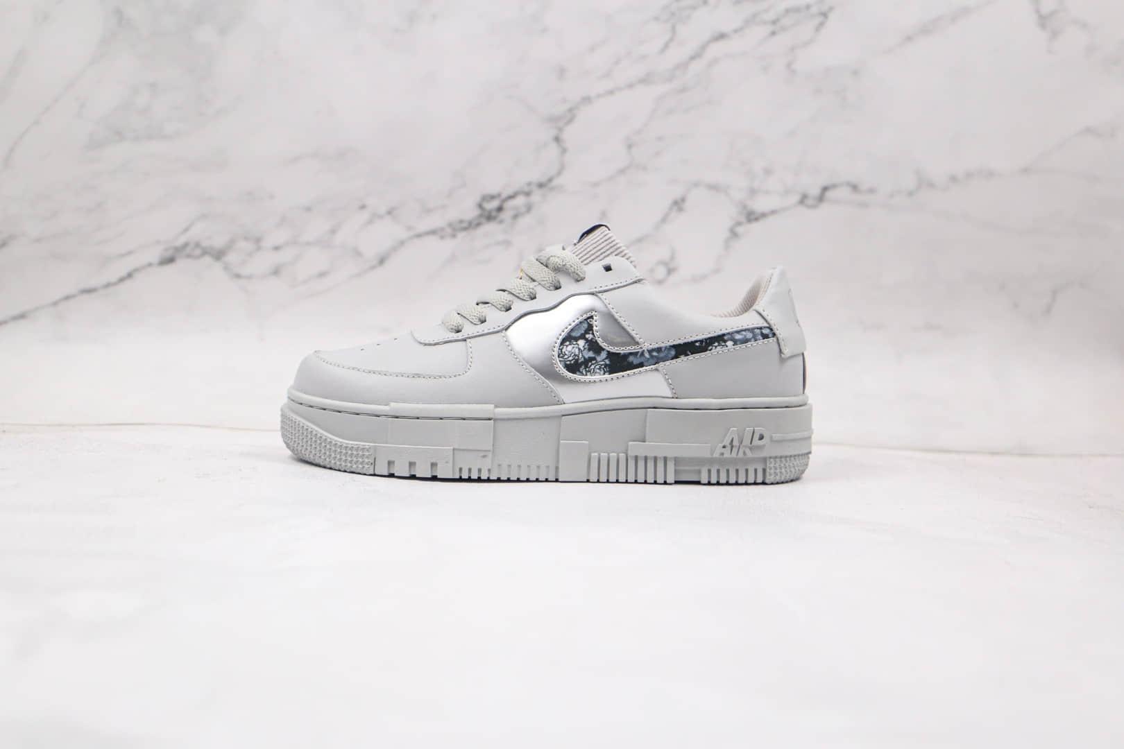 纯原版本耐克低帮空军一号白色花纹板鞋出货