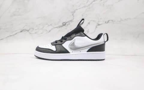 耐克Nike Court Borough Low 2纯原版本低帮黑白银板鞋原楦头纸板打造 货号:CT3964-100