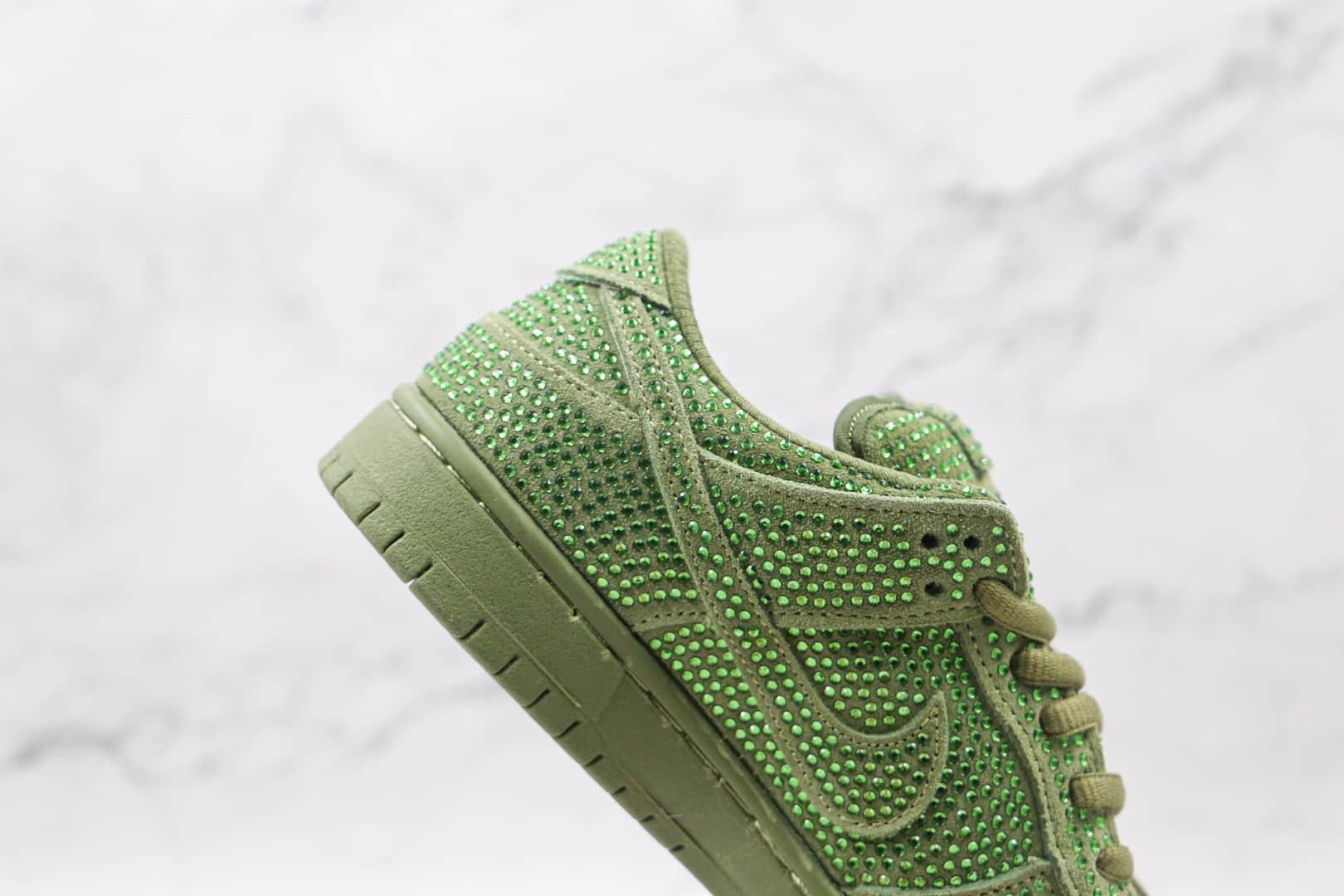 耐克Nike SB Dunk Low x CPFM施华洛世奇联名款纯原版本绿色水钻板鞋内置Zoom气垫 货号:CZ2670-300