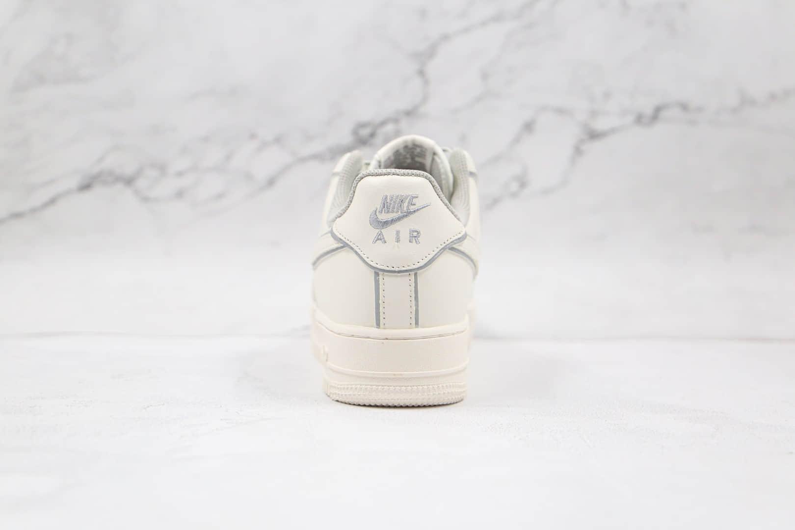 耐克Nike Air Force 1 '07纯原版本低帮空军一号3M反光白色板鞋内置全掌Sole气垫 货号:BD3654-506