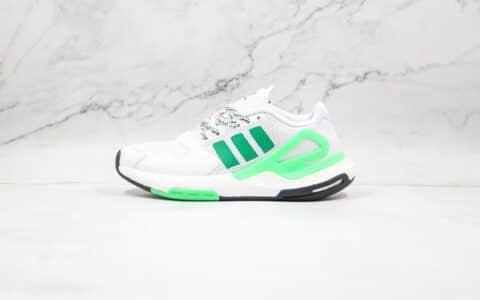 阿迪达斯Adidas Originals 2021 Day Jogger Boost 2021纯原版本三叶草夜行者二代白绿色爆米花跑鞋原鞋开模 货号:FW4848