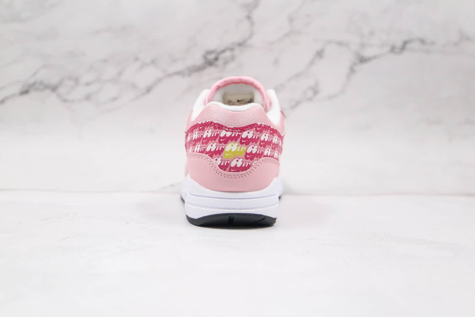 耐克Nike Air Max 1 Strawberry Lemonade纯原版本弹幕粉色反光气垫鞋原档案数据开发 货号:CJ0609-600