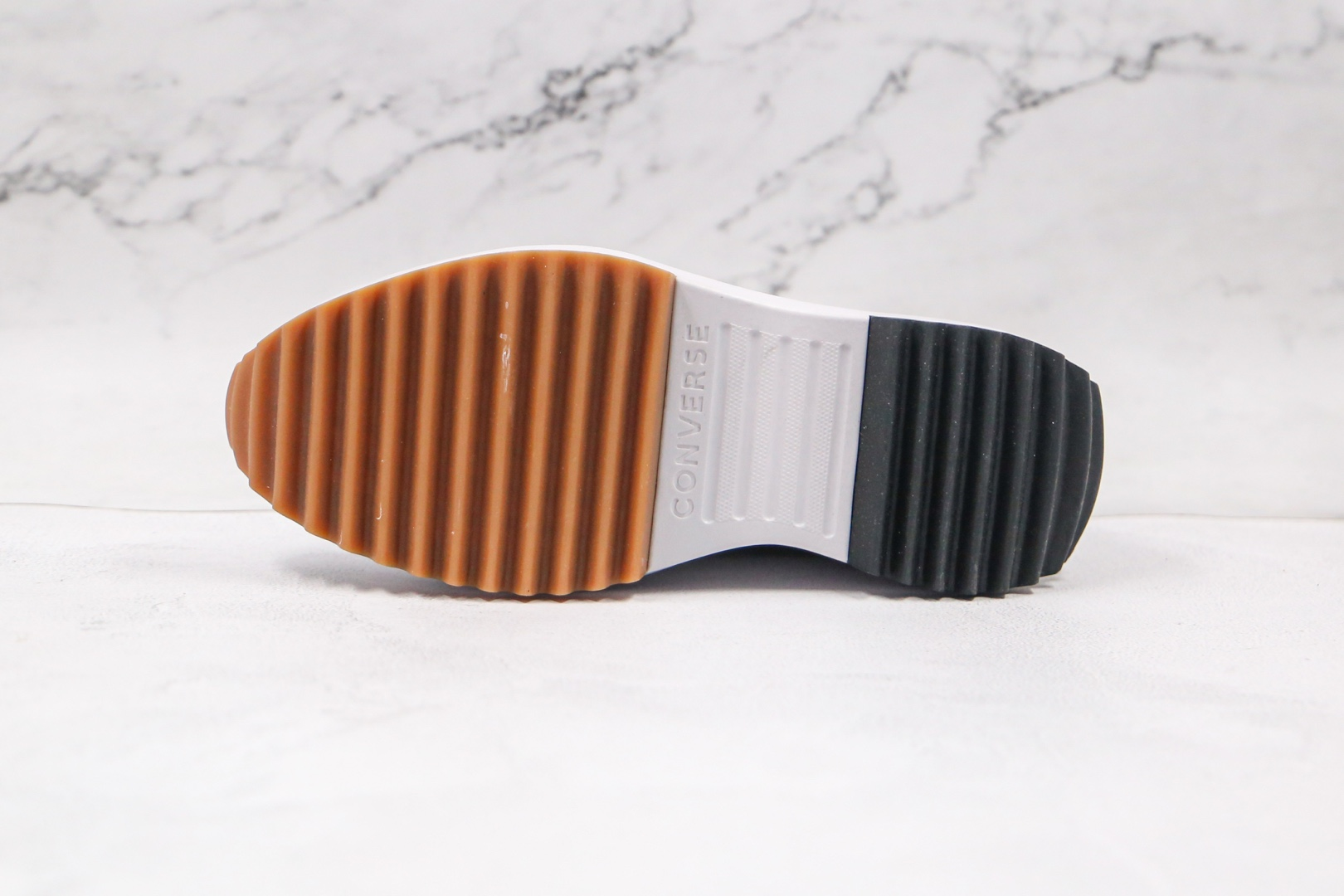 匡威Converse Run Star x JW Anderson联名款纯原版本高帮厚底锯齿雾霾灰色松糕鞋原盒原标