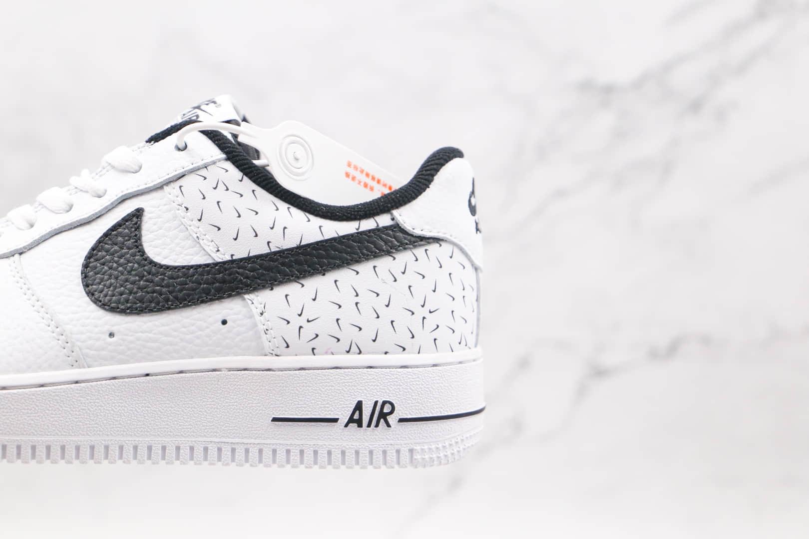 耐克Nike AIR FMRCE 1 LOW纯原版本低帮空军一号白色黑勾满勾板鞋内置全掌Sole气垫 货号:DC9189-100