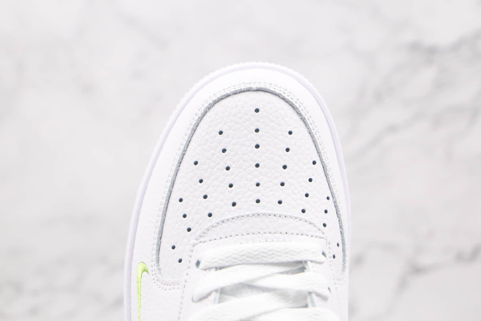 耐克Nike Air Force 1 Low纯原版本低帮空军一号蓝绿断勾板鞋原盒原标原鞋开模打造 货号:DJ6894-100