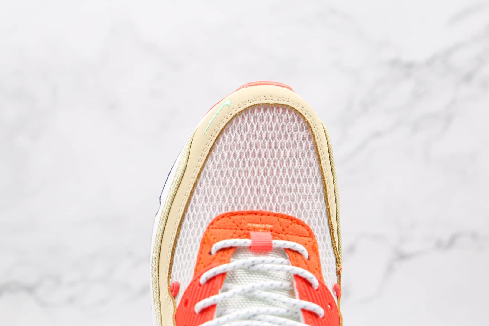 耐克Nike Air Max 90纯原版本复古Max90黄蓝红紫橙鸳鸯拼色气垫鞋原档案数据开发 货号:CZ9078-784