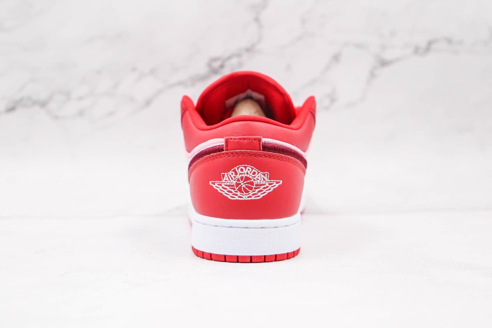 乔丹Air Jordan 1 Low纯原版本低帮AJ1圣诞红板鞋原楦头纸板打造 货号:DB3621-600