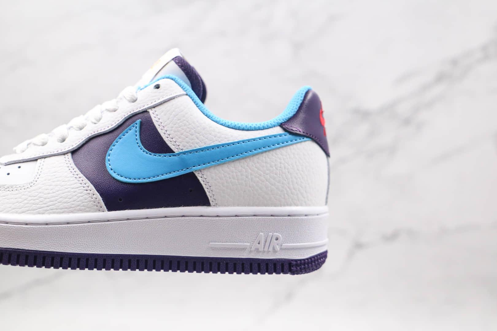 耐克Nike Air Force 1 HO20 BG纯原版本低帮空军一号白黑蓝色板鞋原档案数据开发 货号:CT3841-100