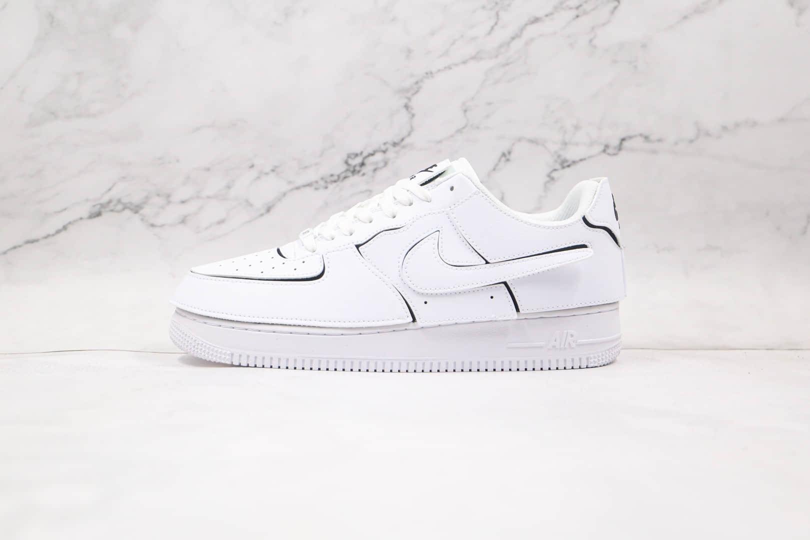 耐克Nike Air Force 1 Low纯原版本低帮空军一号纯白橙色换勾魔术贴板鞋原楦头纸板打造 货号:CZ5093-100