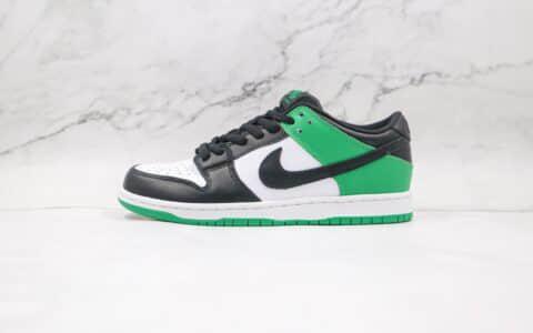 纯原版本耐克低帮SB DUNK白绿黑脚趾板鞋出货