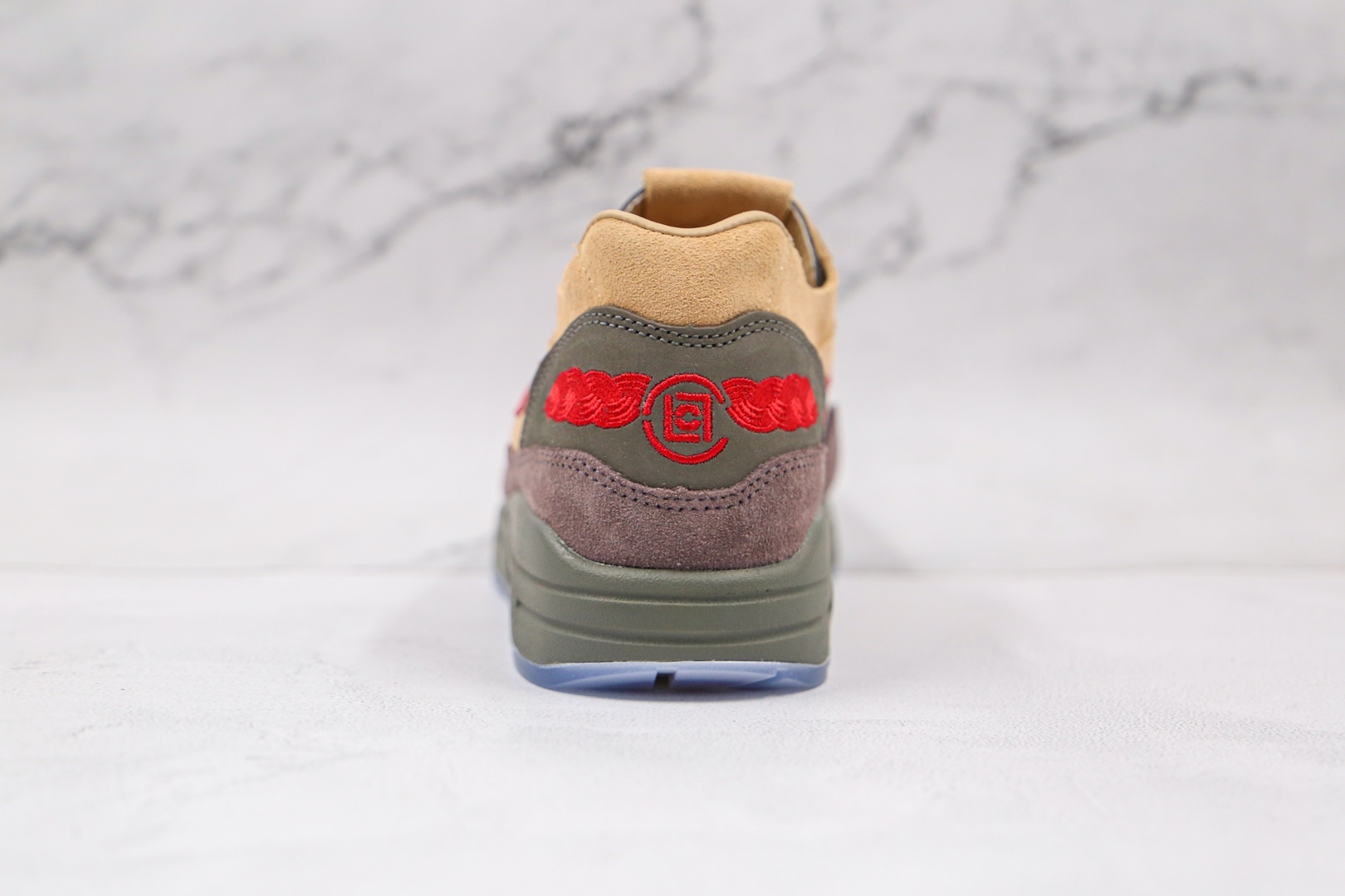 耐克Nike Air Max 1 Tea Leaf Brown x CLOT陈冠希联名款纯原版本Max 1中国限定死亡之吻气垫鞋原盒配件齐全 货号:DD1870-200