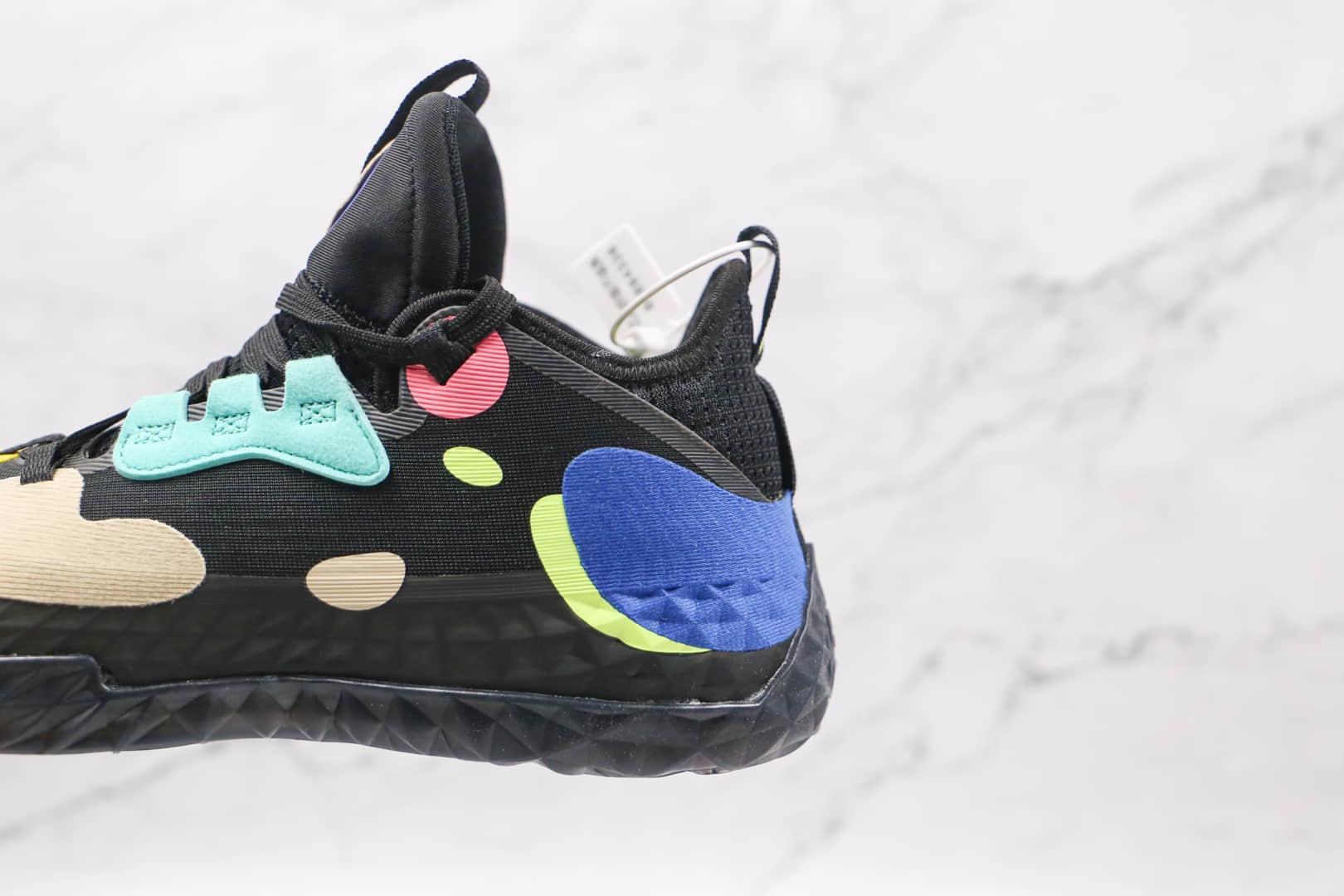 阿迪达斯Adidas Harden Vol.5 Gca纯原版本哈登5代黑色多彩篮球鞋原档案数据开发 货号:FZ1070