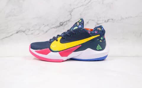 耐克Nike Zoom Freak 2 Midnight Navy纯原版本字母哥二代圣诞配色篮球鞋支持实战 货号:DB4689-400
