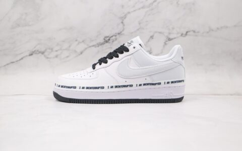 耐克Nike Air Forece 1 x Uninterrupted MORE THAN联名款纯原版本低帮空军一号白黑签名涂鸦板鞋原盒配件齐全 货号:352267-801