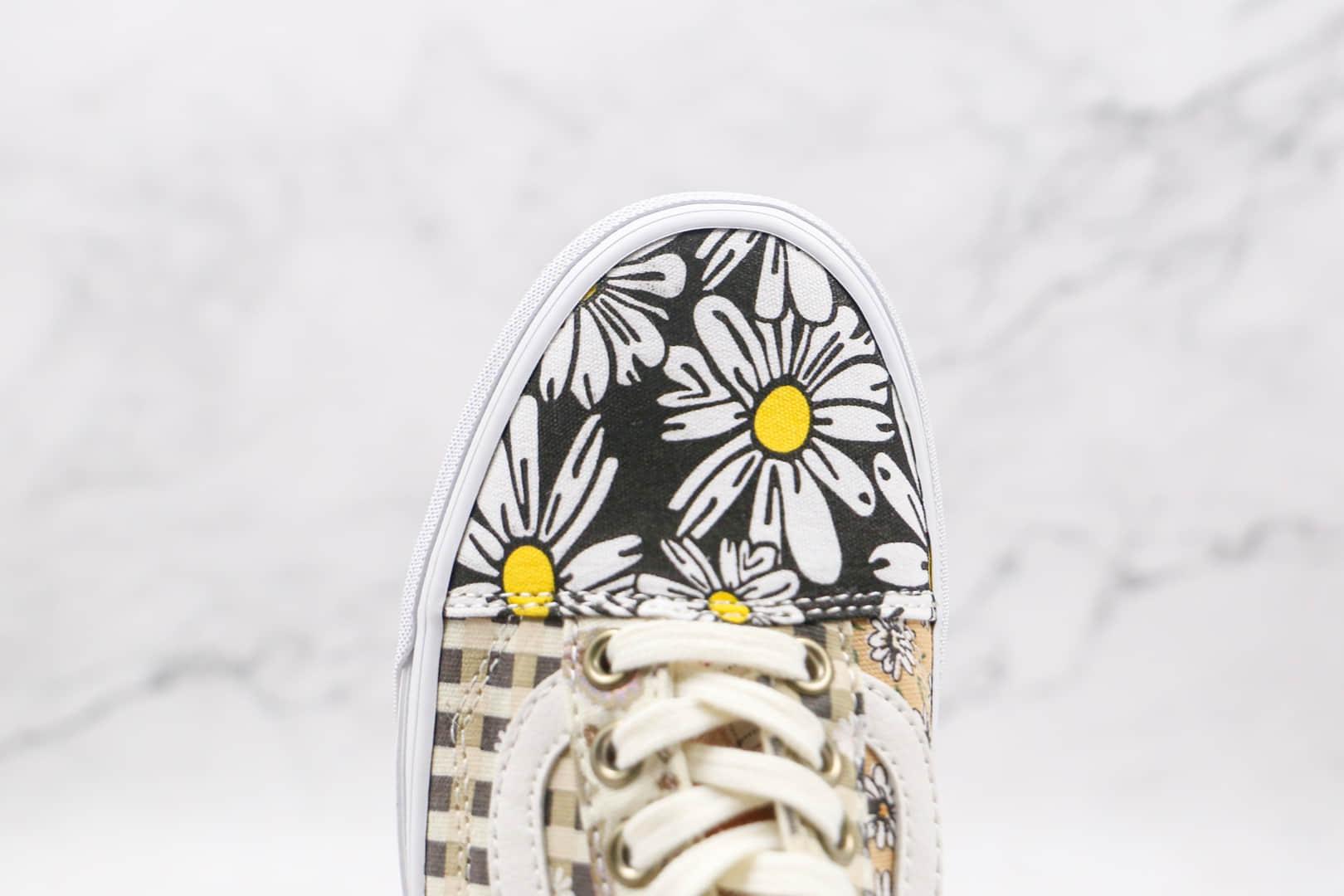 万斯Vans Era公司级版本低帮复古硫化板鞋腰果花棋盘格配色原厂硫化大底