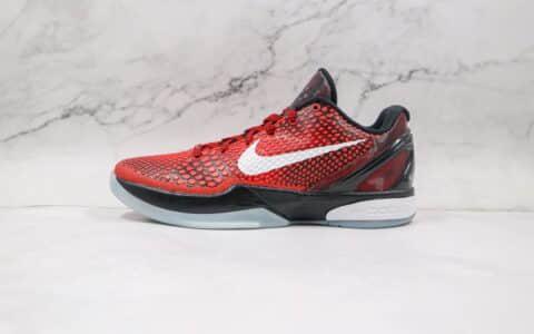耐克Nike Zoom Kobe VI灭世纯原版本科比6代全明星黑红色篮球鞋内置气垫碳板支持实战 货号:448693-600