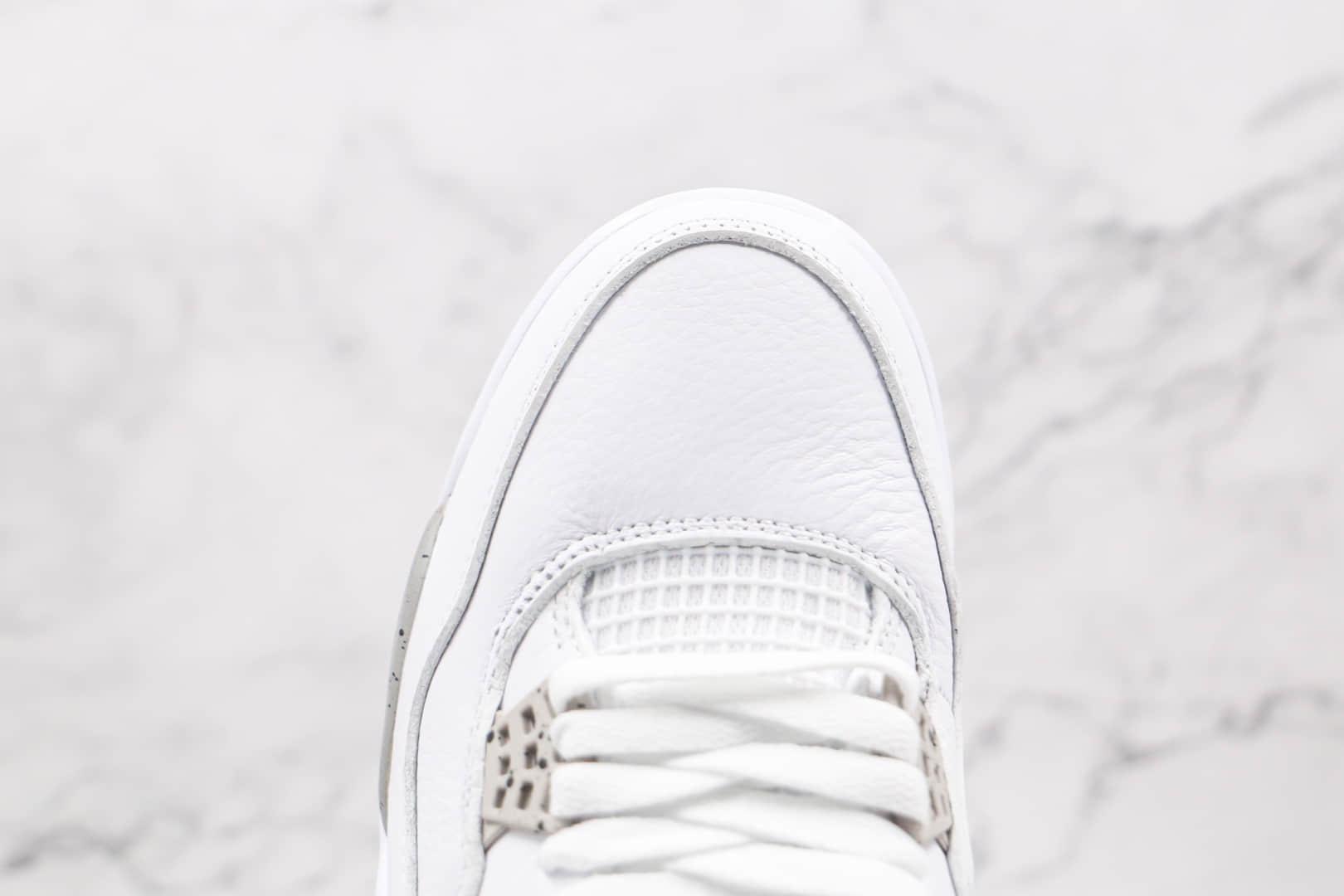 乔丹Air Jordan 4纯原版本白奥利奥AJ4篮球鞋内置气垫原盒原标 货号:CT8527-100