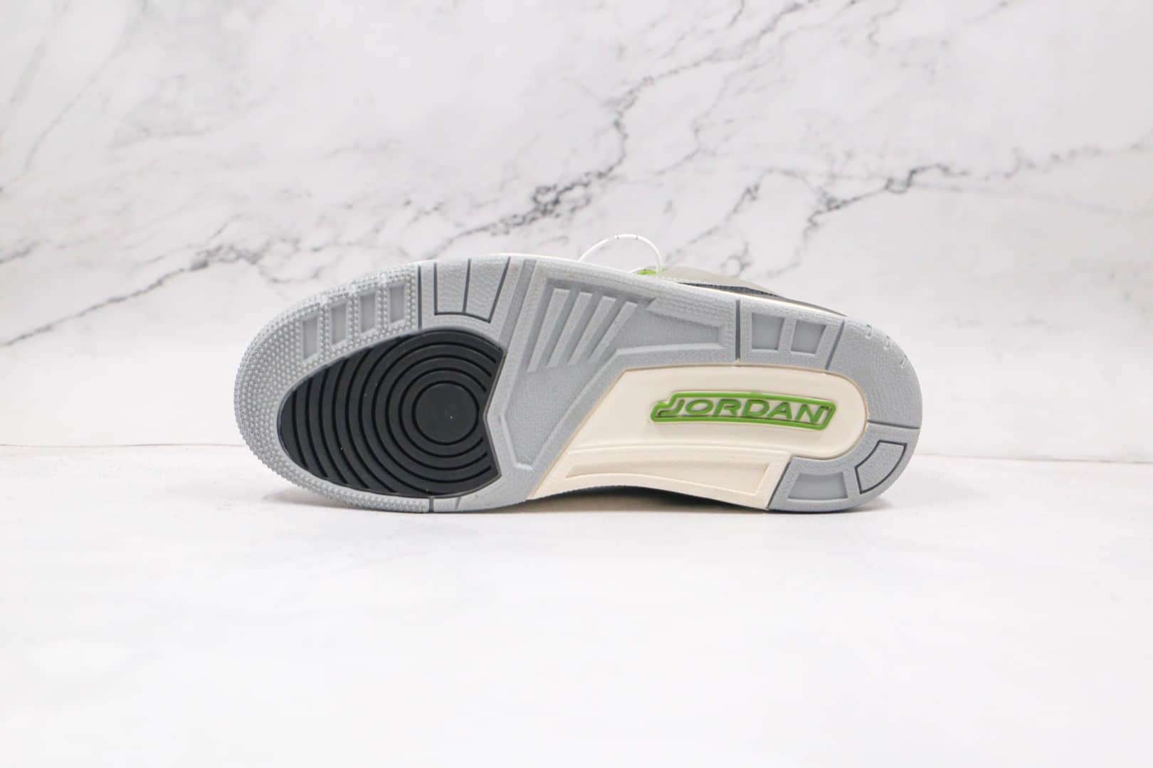 乔丹Air Jordan 3 Retro Chlorophyll纯原版本叶绿素AJ3篮球鞋原楦头纸板打造 货号:136064-006