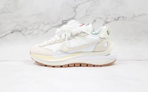 纯原版本耐克华夫sacai二代白色解构鞋出货