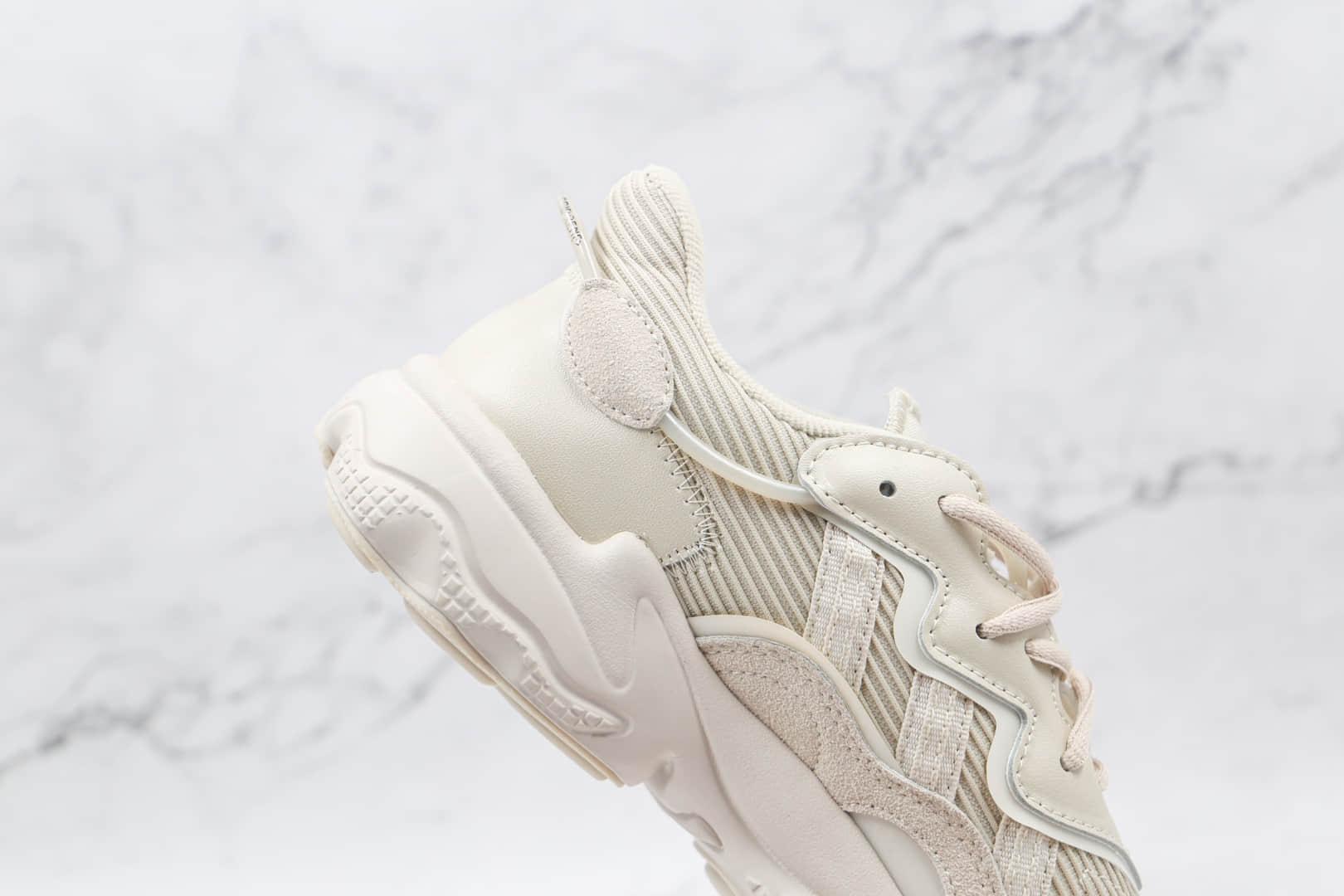 阿迪达斯Adidas Originals Ozweego纯原版本珍珠灰3M反光水管老爹鞋原盒原标 货号:FX6029