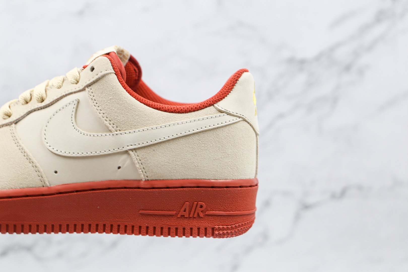 耐克Nike AIR FMRCE 1纯原版本低帮空军一号酒红米白色板鞋内置气垫原盒原标 货号:AA1391-111
