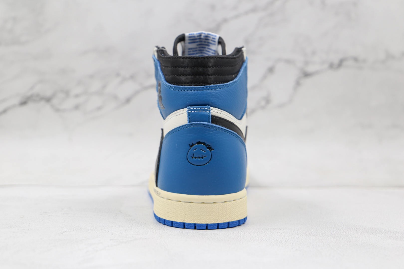 乔丹Air Jordan 1 High OG SP Military Blue x Fragment x Travis三方联名款纯原版本TS藤原浩倒勾黑蓝白板鞋原档案数据开发 货号:DH3227-105