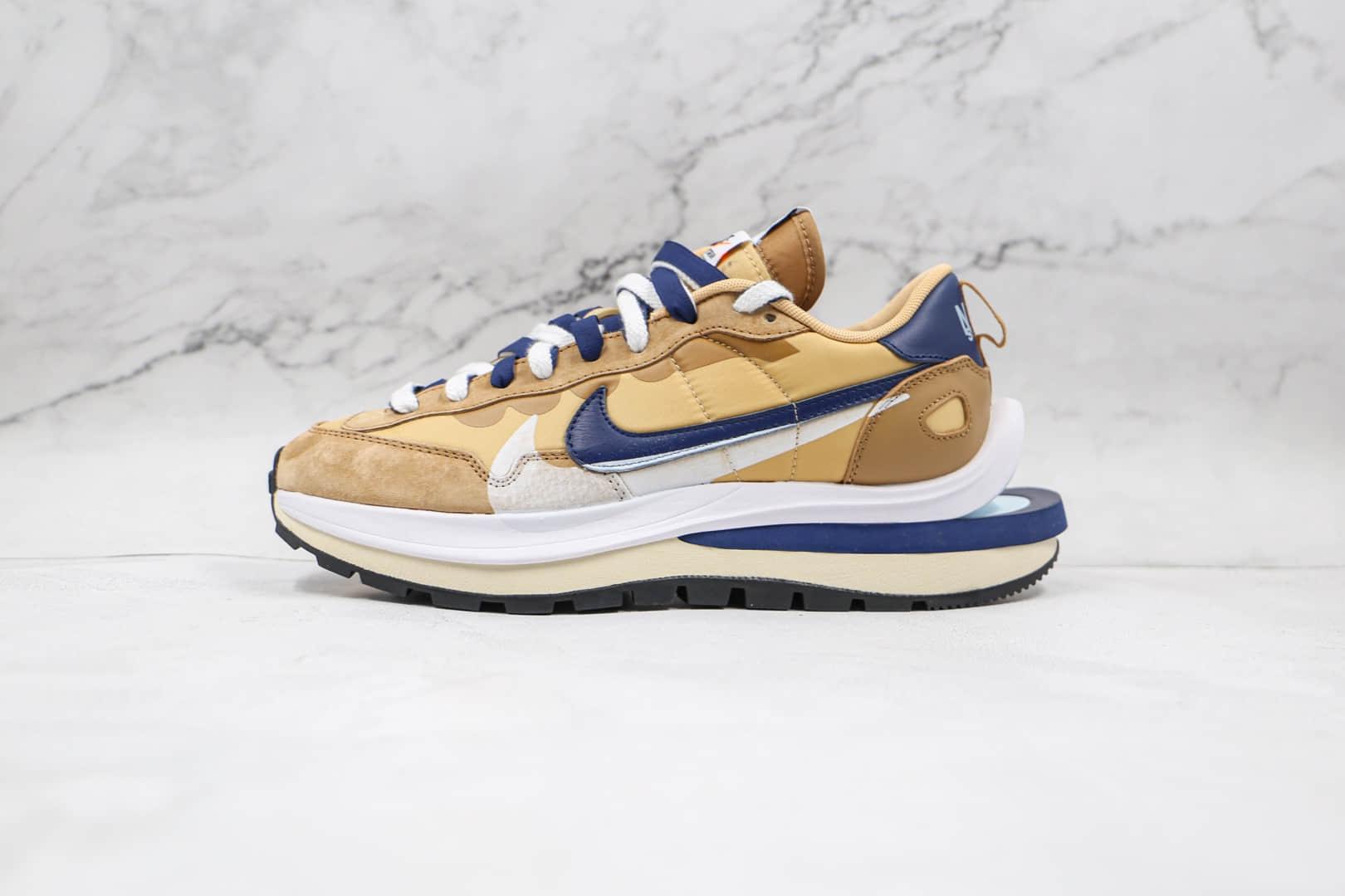 耐克Nike VaporWaffle x sacai联名款纯原版本华夫三代黄蓝色走秀鞋原楦头纸板打造 货号:DD1875-200