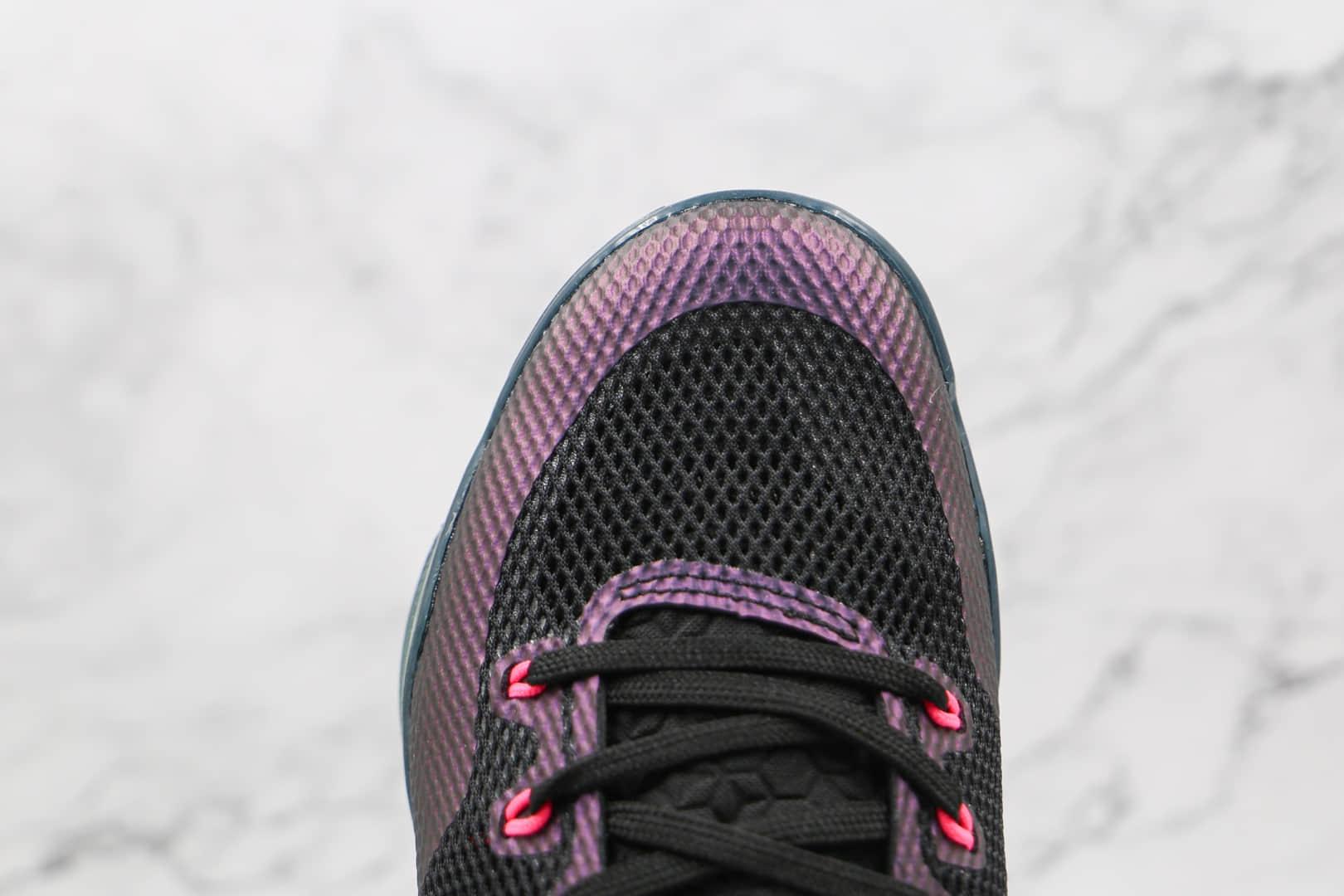 耐克Nike Kobe 11 EM Low Invisibility Cloak纯原版本科比11代3M黑紫色篮球鞋内置气垫支持实战 货号:836183-005