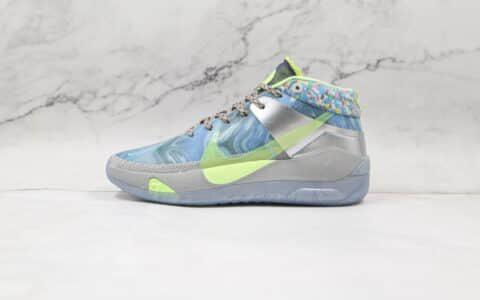 耐克Nike KD 13 EP Play for the Future纯原版本杜兰特13代灰蓝绿全明星配色篮球鞋内置气垫支持实战 货号:CW3157-001