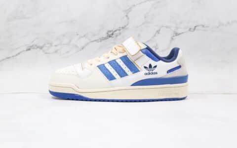 阿迪达斯adidas Forum 84 Low OG Bright Blue纯原版本三叶草白蓝色魔术贴板鞋原档案数据开发 货号:S23764