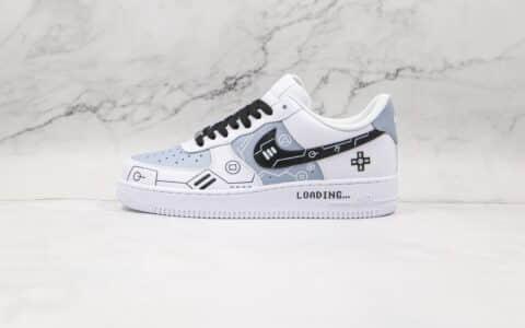 耐克Nike Air Force 1纯原版本低帮空军一号黑白灰电玩PS5主题立体按键配色板鞋内置气垫 货号:CW2288-111