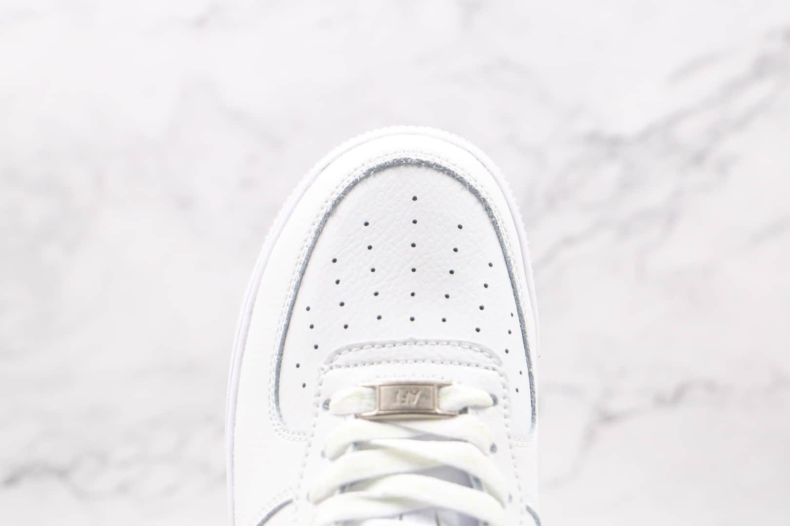 耐克Nike Air Force 1 UPSTEP纯原版本低帮空军一号LV勾白蓝色板鞋内置气垫 货号:AH0287-215
