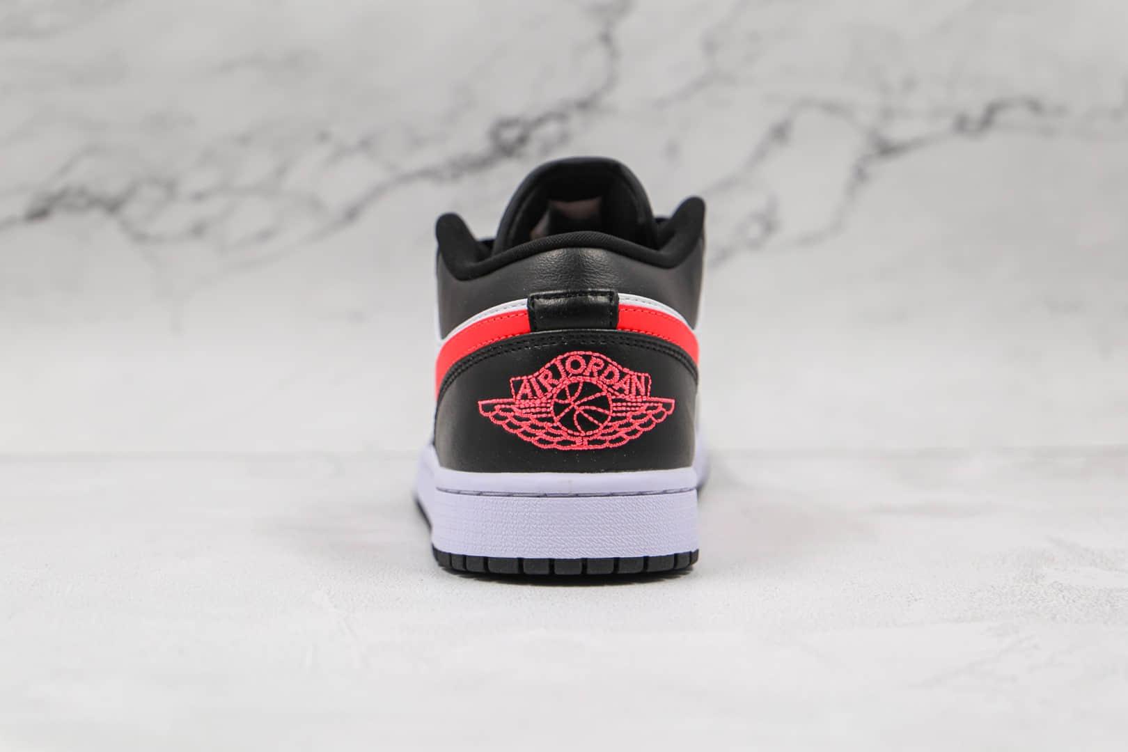乔丹Air Jordan 1 Low纯原版本低帮AJ1黑红色板鞋原盒原标原档案数据开发 货号:DC0774-004